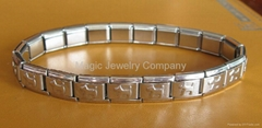 Two Layer Stretchy Shiny Stainless Steel Bracelet SSB105