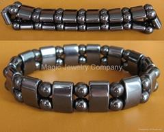 Hematite Magnetic Healthy Stretchy Black Bracelet MB101