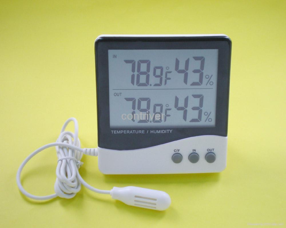 Large display In/Out thermometer & In/Out Hygrometer 1