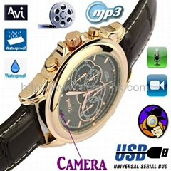 4G/8GB Ultra Thin Cheap Spy Watch Video Camera Recorder Hidden DVR W/ MP3 Player