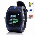 GPS Watch Tracker W/ SOS Button For Emergent Call & Position Coordinates Display