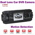 X8000 Dual Lens Wide Angel HD 720P Car DVR Camcorder W/ GPS Logger & G-Sensor