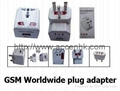 Global Travel Plug Adapter GSM Audio Bug With Voice-Detection Auto Callback
