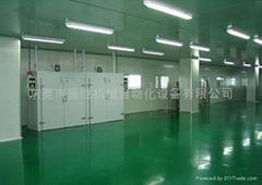 无尘净化车间彩钢板隔离工业地坪风淋室通道