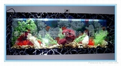 时尚生态壁画鱼缸