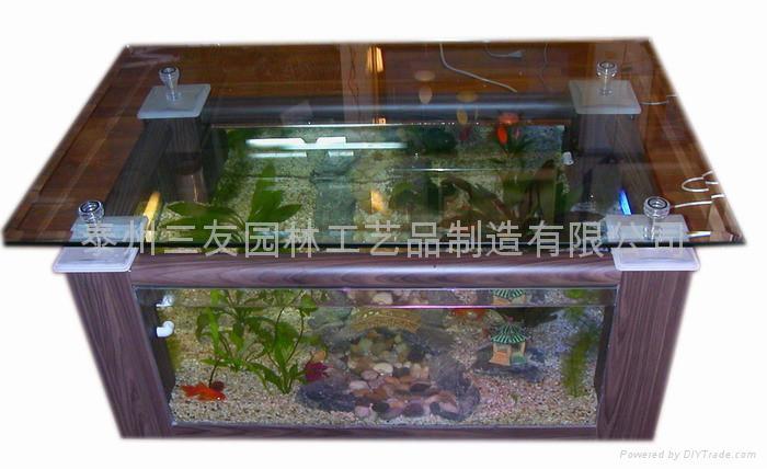 家居装饰最实用的时尚茶几鱼缸 3