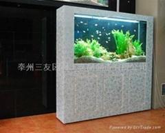 烤漆玻璃屏风式生态鱼缸