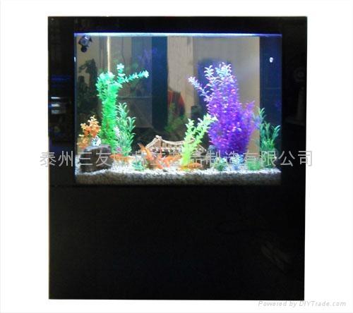 烤漆玻璃屏风式生态鱼缸 4