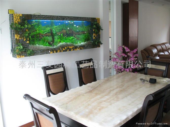 生态壁画鱼缸 1