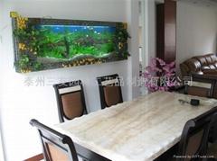 生态壁画鱼缸