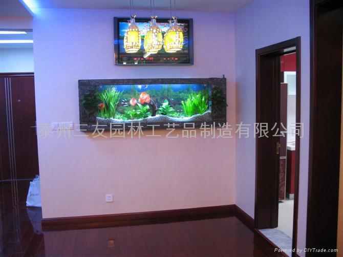 生态壁画鱼缸 2