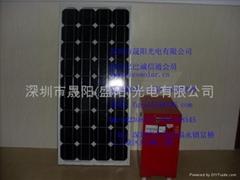 太阳能发电系统,100W用于家庭小电器使用