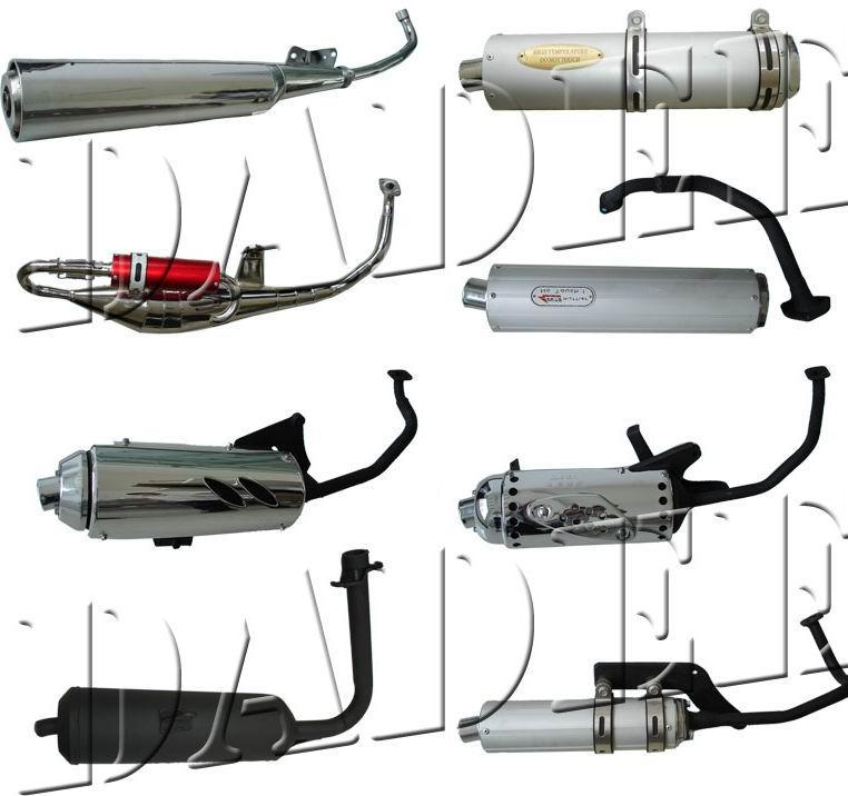 Muffler Exhaust Pipe Motorcycle Muffler For Scooter