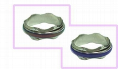 批發飾品12色皇冠變色戒指