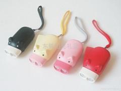 東莞陽光禮品環保卡通手壓燈