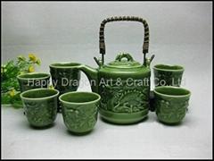 Chinese Dragon Porcelain Tea Set