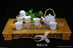 Blue Flower Porcelain Tea set tableware houseware