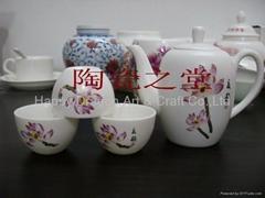 Porcelain Mat Glazed Tea set