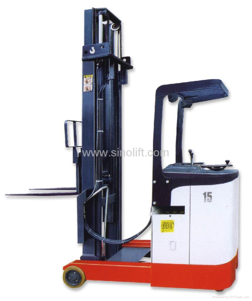 how to work a high reach forklift