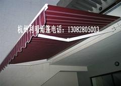 戶外伸縮陽台遮陽汽車棚曲臂式電動雨篷