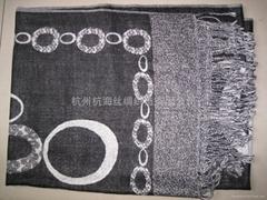 circle printing scarf