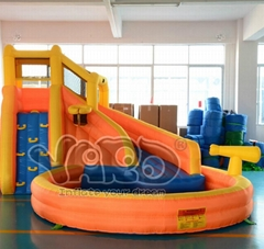Water slide inflatable slide inflatable water slide with cannon