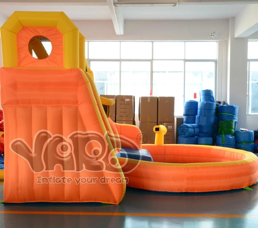 Water slide inflatable slide inflatable water slide with cannon 3