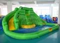 Crocodile water slide inflatable water park inflatable slide 1
