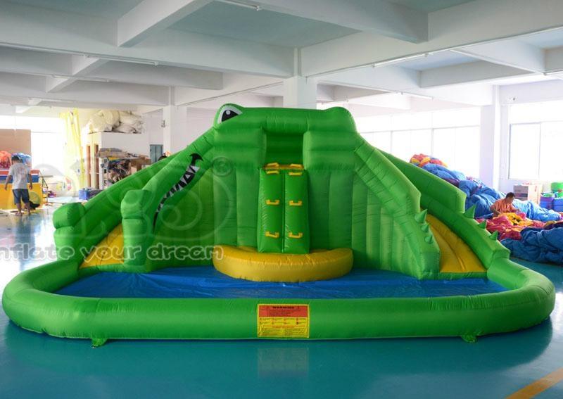 Crocodile water slide inflatable water park inflatable slide 2