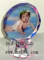 宝宝成长历程水晶照片