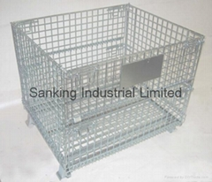 Foldable & Stacking Storage Wire Container