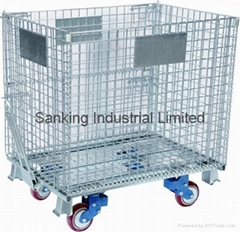 Stacking Wire Mesh Cage With Castors