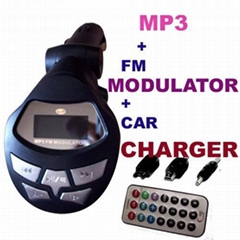 Car mp3 plus car charger function