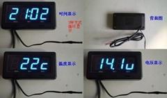digtal clock&voltage &Themo meter