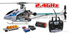 2.4GHz NINJA 400 6CH RTF RC Helicopter Brushless Belt Driver Radio Control