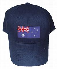 發光國旗帽