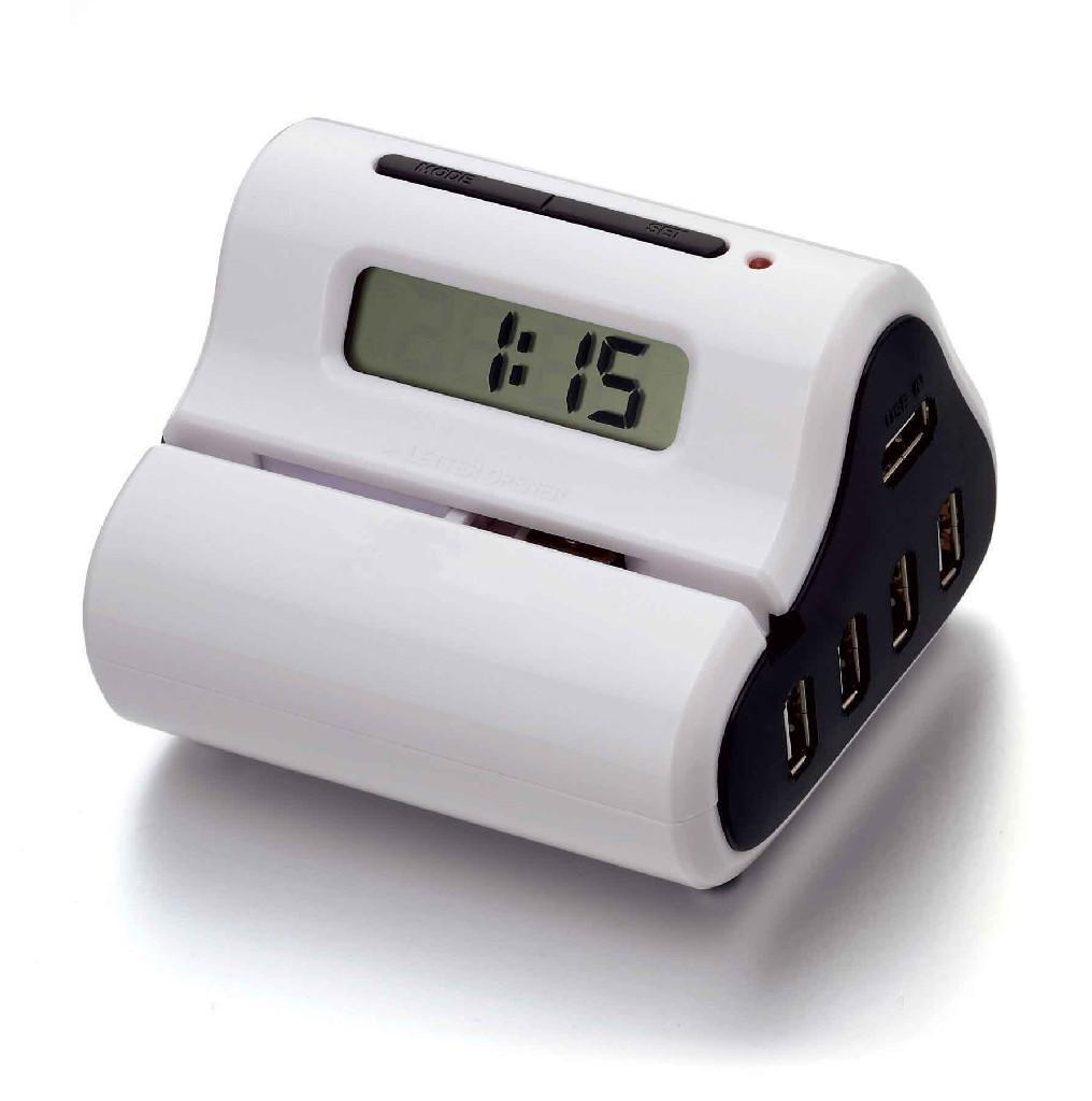 USB Letter Opener with USB hub and Clock Display 1