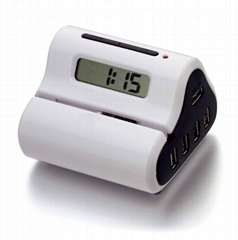 USB Letter Opener with USB hub and Clock Display