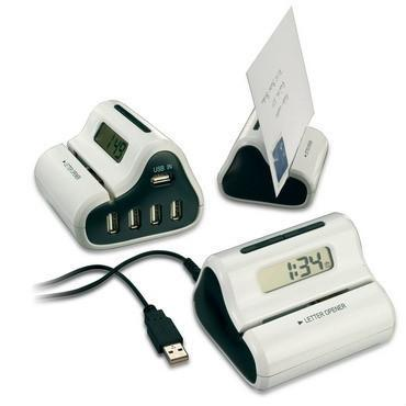 USB Letter Opener with USB hub and Clock Display 2