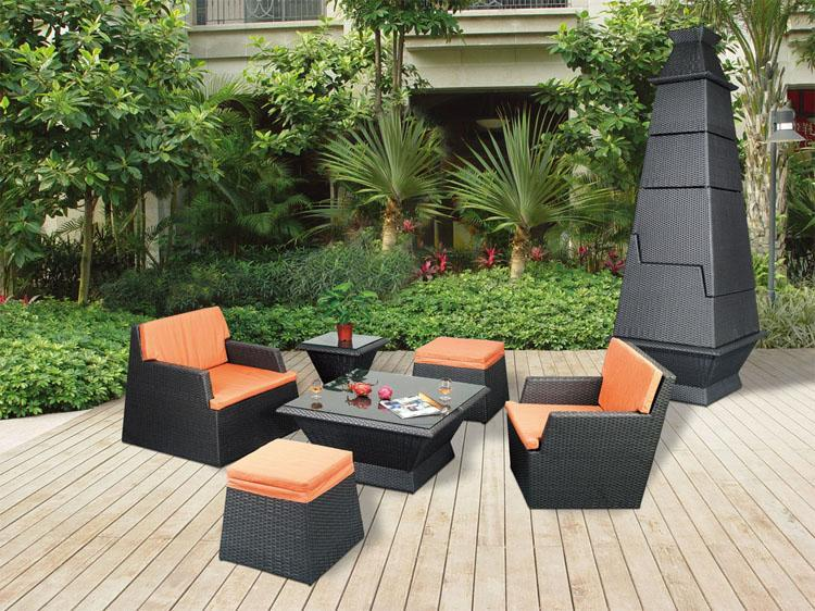 Outdoor rattern garden leisure furniture set lf0059 for Arredamento made in china