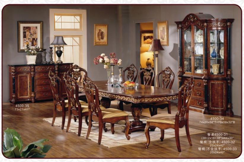Exceptional American Classical Antique Wooden Dining Room Furniture Set Part 20
