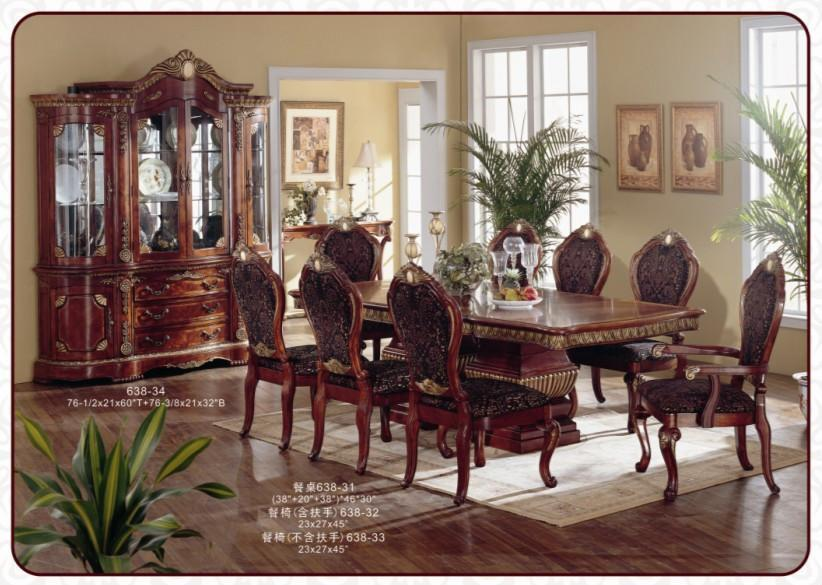 American classical antique wooden dining room furniture for Antique dining room furniture