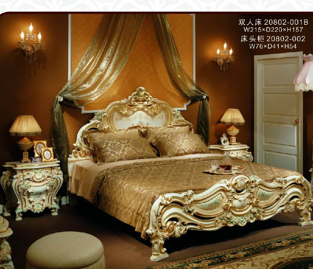 European Antique Bedroom Furniture Set