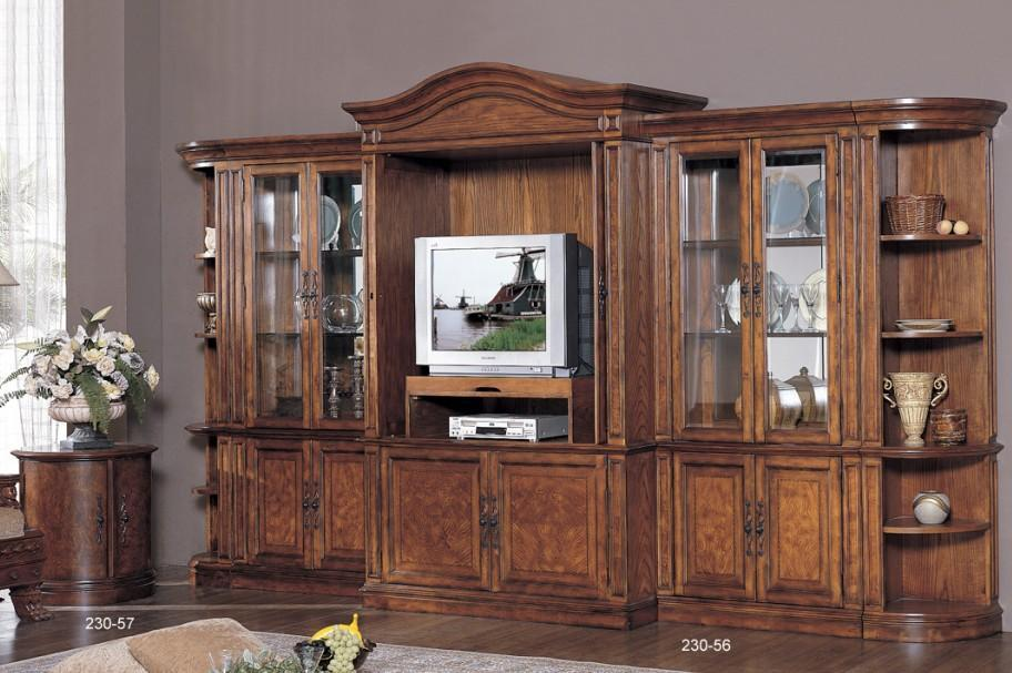 Classical Wooden Tv Cabinet Stand Wall
