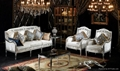 Frence wooden upholstered furniture,sofa sets, tea table