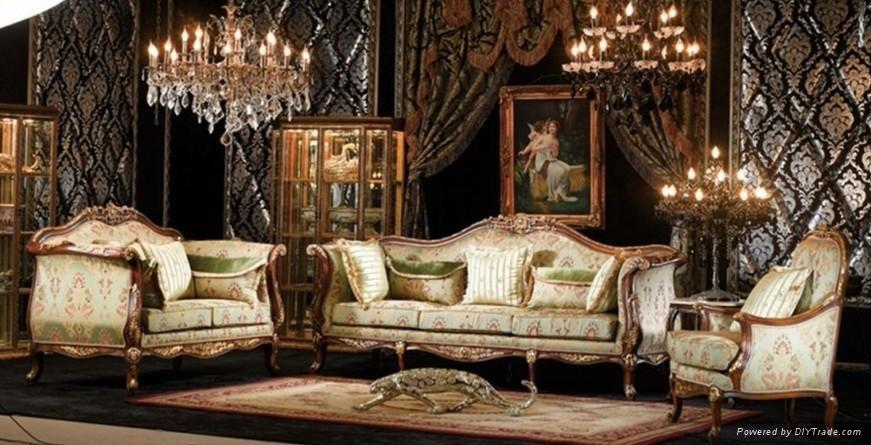 European French Living room furniture wooden sofa set - Product