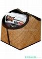 Faux Leather (PU, PVC) Or Genuine Leather Magazine Basket, Leather magazine tote 2