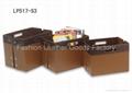 Faux Leather (PU, PVC) Or Genuine Leather Magazine Basket, Leather magazine tote 3