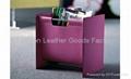 Faux Leather (PU, PVC) Or Genuine Leather Magazine Basket, Leather magazine tote 5