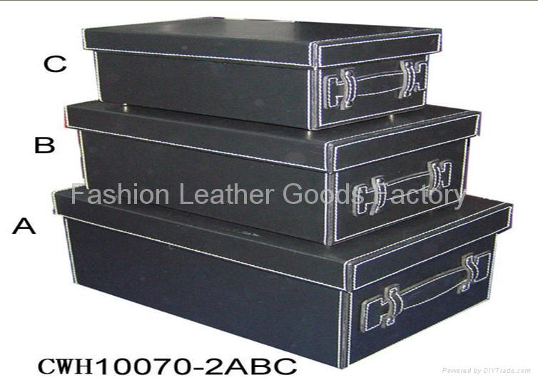 Faux Leather (PU PVC) Or Genuine Leather Storage Box 1 ...  sc 1 st  DIYTrade : faux storage box  - Aquiesqueretaro.Com